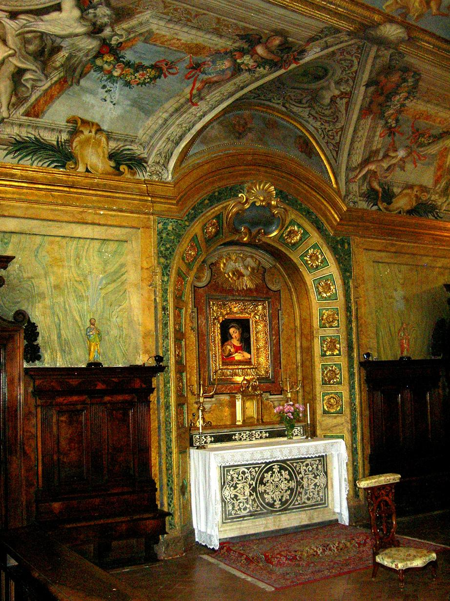 The Chapel of the Mother of Divine Providence in the church of San Carlo ai Catinari in Rome